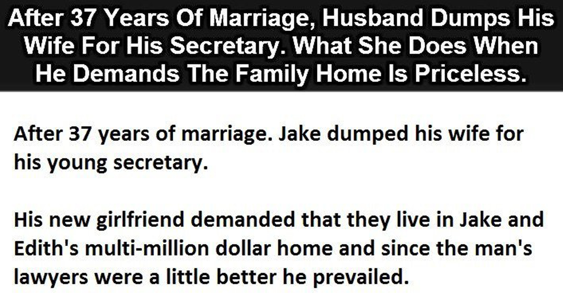 This Man\'s Wife Just Got The Best Revenge Ever. This Is Gold ...